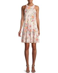 Rebecca Taylor - Marlena Sleeveless Floral-print Jersey Dress - Lyst