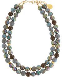 Devon Leigh - Double-strand Labradorite & Quartz Necklace - Lyst