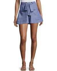 State Of Being - Embrace High-waist Tie-front Shorts - Lyst