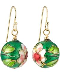 A.V. Max - Cloisonne Bead Earrings Green - Lyst
