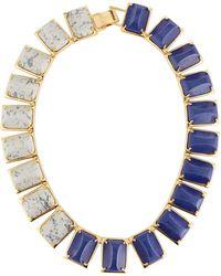 Lele Sadoughi | Gardenia Colorblocked Statement Collar Necklace | Lyst