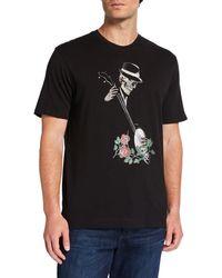 2b58915f Robert Graham - Men's Banjo Skull Graphic Short-sleeve T-shirt - Lyst