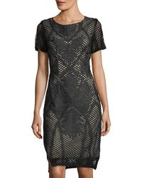 Goldie London - Dusty Embroidered Mesh Dress - Lyst