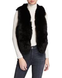 Adrienne Landau Let Out Fox Fur Vest - Black