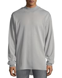 Fear Of God Men's Long-sleeve Mesh High-low T-shirt - Gray