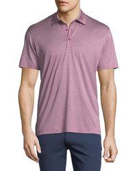 Ermenegildo Zegna - Fine-stripe Cotton Polo Shirt - Lyst