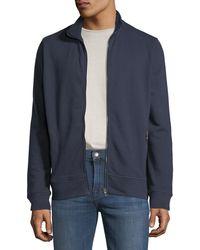 Neiman Marcus - Men's Mock-neck Zip-front Sweatshirt - Lyst