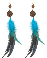 Nakamol - Feather & Beaded Drop Earrings - Lyst