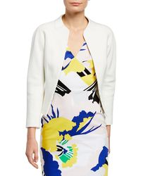 Karen Millen Textured Tailored Jacket - White