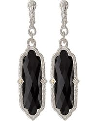 Judith Ripka - Chelsea Elongated Onyx & Sapphire Dangle Earrings - Lyst