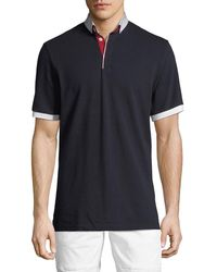 Maceoo - Shaped-fit Printed-collar Polo Shirt - Lyst