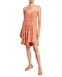 Sanctuary Spring Ahead Floral Tank Dress - Orange