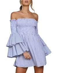 StyleKeepers - Sunshine Beach Off-the-shoulder Dress - Lyst