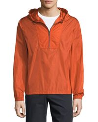 Vince - Hooded 1/4-zip Anorak Jacket - Lyst