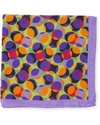 Bugatchi - Geometric Pattern Silk Pocket Square - Lyst