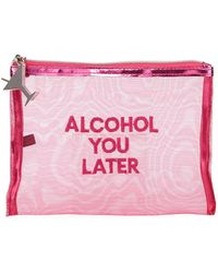Neiman Marcus - Alcohol You Later Embroidered Mesh Bag - Lyst