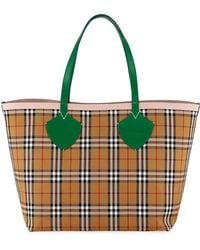 e4752c896a0d Burberry - Giant Reversible Vintage Check Tote Bag - Lyst