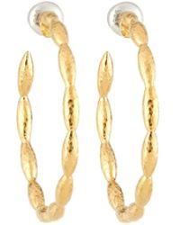 Gurhan - Large Vermeil Wheat Hoop Earrings - Lyst