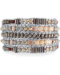 Nakamol - Freshwater Pearl Beaded Wrap Bracelet - Lyst