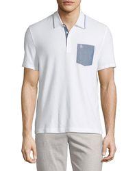Original Penguin - Chambray-pocket Polo Shirt - Lyst