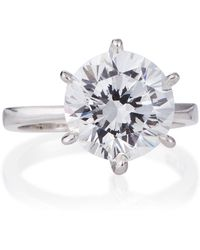 Fantasia by Deserio - Round-cut Solitaire Cz Ring - Lyst