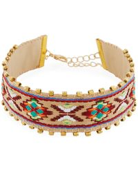 Panacea - Embroidered Choker Necklace - Lyst