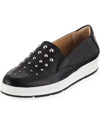 Adrienne Vittadini - Goldie Studded Gored Sneakers - Lyst