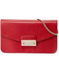 Furla - Julia Small Pochette Leather Crossbody Bag - Lyst