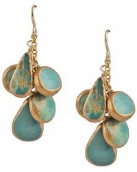Devon Leigh - Copper Infused Turquoise Drop Earrings - Lyst