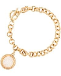 Lydell NYC - Clear Round Shaker Bracelet - Lyst