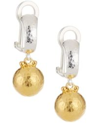 Gurhan Two-tone Drop Earrings - Metallic