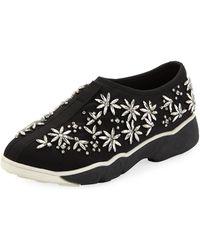 Neiman Marcus - Jolie Embellished Neoprene Sneakers - Lyst