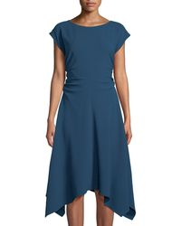 Julia Jordan - Ruched-side Cap-sleeve Handkerchief A-line Dress - Lyst