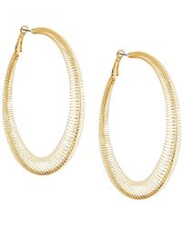 Romeo and Juliet Couture - Pleated Hoop Earrings - Lyst