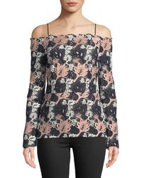 Yigal Azrouël - Off-the-shoulder Guipure-lace Blouse - Lyst