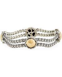 John Hardy - Palu Sterling Silver & 18k Gold Station Bracelet - Lyst