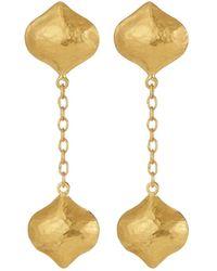 Gurhan - Clove 24k Double Long Puff Drop Earrings - Lyst