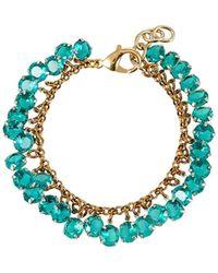 Lulu Frost - Vaulted Crystal Cluster Bracelet Green - Lyst