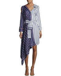 Haute Rogue - Split-pattern Shirtdress - Lyst