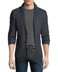 1 Like No Other - Cotton/linen Knit Two-button Blazer - Lyst