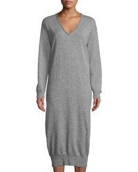 Tomas Maier - Cashmere V-neck Long Sweaterdress - Lyst