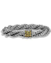 John Hardy - Dot Triple Twist Bracelet - Lyst