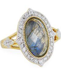 Jude Frances | Moroccan 18k Diamond & Labradorite Doublet Ring | Lyst