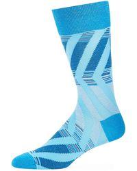 Bugatchi - Men's Striped Cotton-blend Socks - Lyst