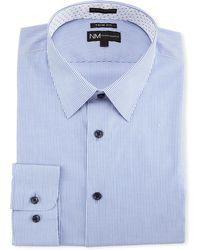 Neiman Marcus - Trim-fit Regular-finish Pinstriped Dress Shirt - Lyst