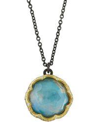 Armenta - Old World Triplet Pendant Necklace W/ Diamonds - Lyst