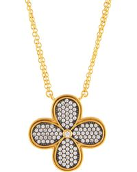 Freida Rothman - Double-strand Pave Crystal Clover Pendant Necklace - Lyst
