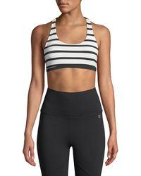 Body Language Sportswear - Margo Reversible Striped Sports Bra - Lyst