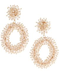 Lydell NYC - Statement Crystal Drop Earrings - Lyst