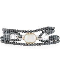 Majorica Four-Row Beaded Baroque Bracelet KvfIV